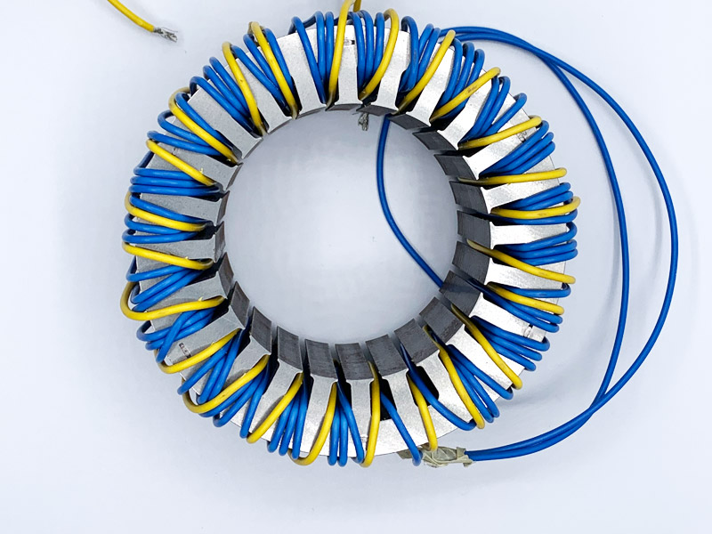 Induction Motor Stator With Winding For Measurements